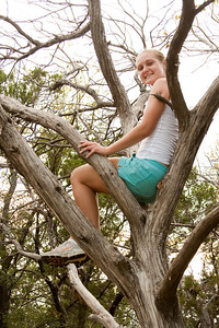 Meagan in the tree