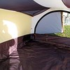 Inside the tent looking from the front to the left rear.