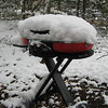 The stove got a little snow