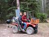 Kristen finally gets to ride her new ATV.