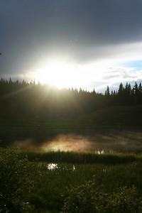 Sunset on Lilly Pond.