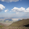 Looking southeast down onto the Alvord Desert from the top of Steens Mountain.