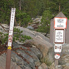 These signs mark the Utica end of Slick Rock Trail