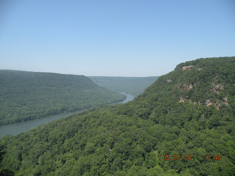 Little Tennessee River Gorge seen from the Julia Falls Overlook