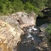Rock Creek drops over forming Lula Lake Falls and the tiny lake itself.