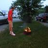 Kenny performing a little fire buggery.