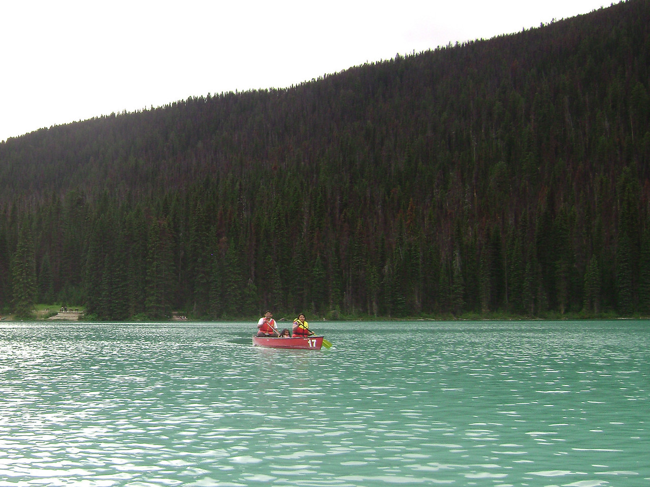 Boating at Emarald Lake, Yoho National Park