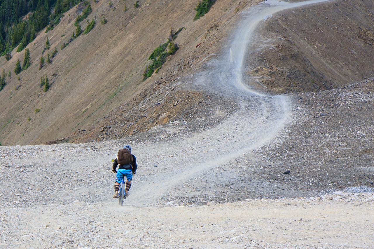 Bikers at Top-Gondola at Kicking Horse Resort