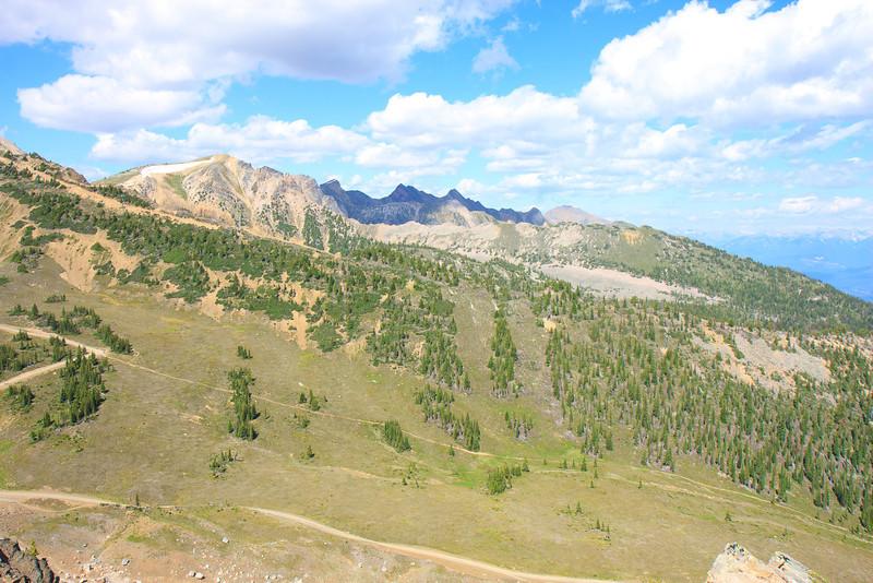 View from Top-Gondola at Kicking Horse Resort