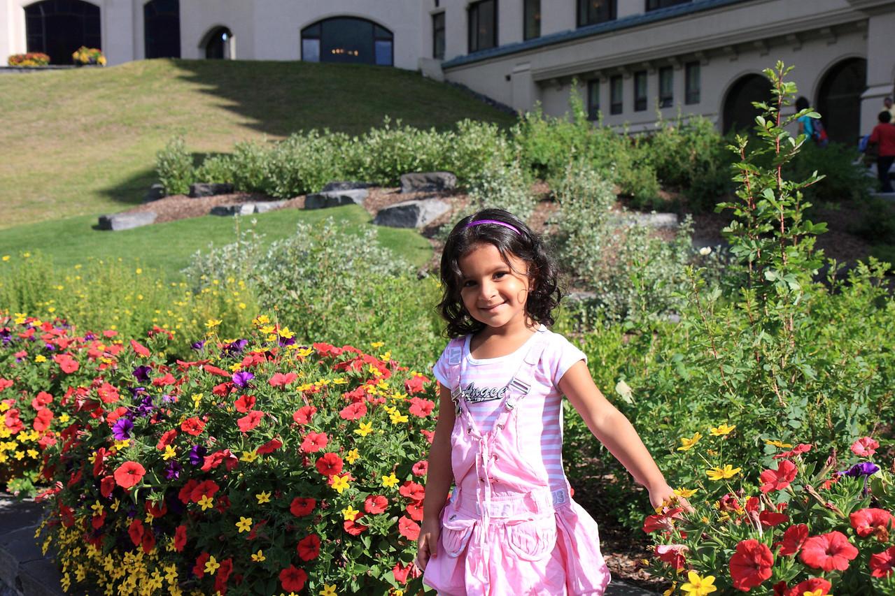 Sakshi at Chateau Lake Louise