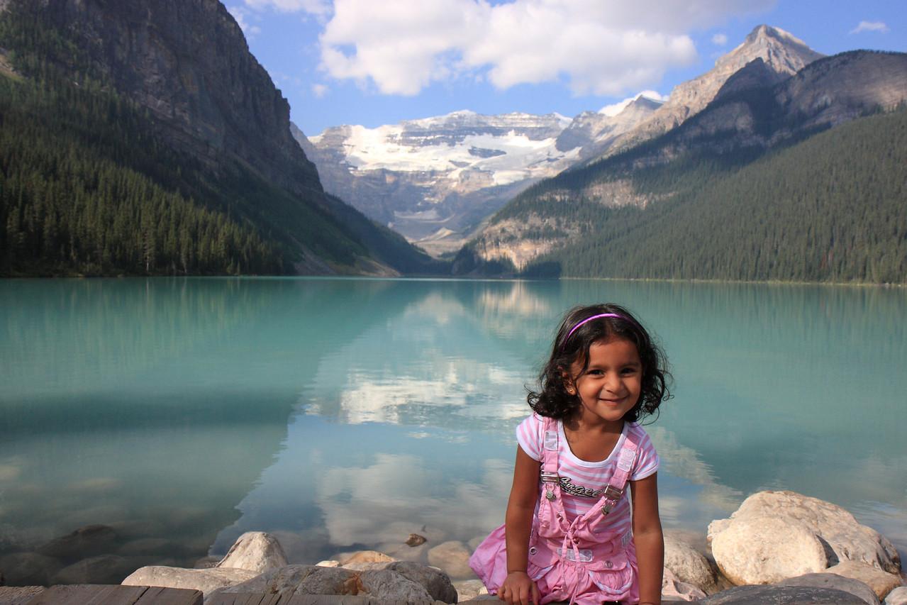 Sakshi at Lake Louise