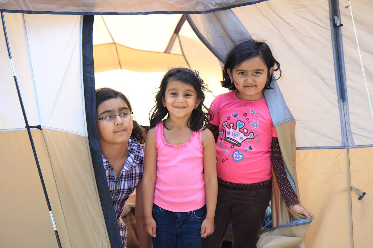 Kids at Rajen's tent
