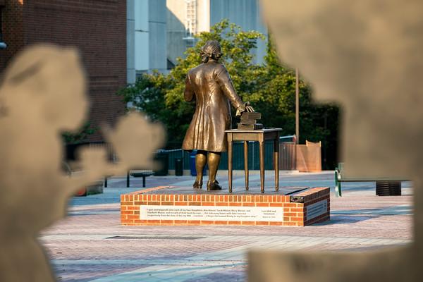 George Mason Statue. Photo by: Shelby Burgess/Strategic Communications/George Mason University