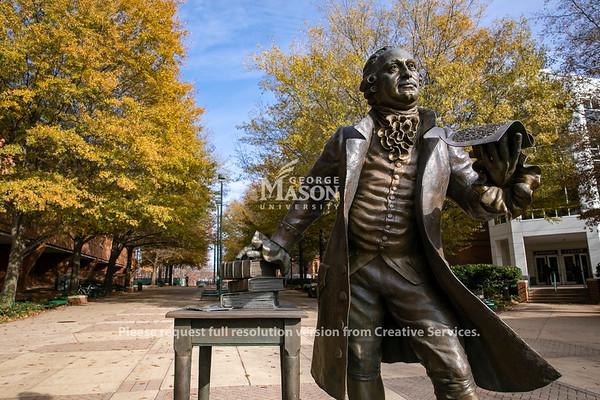 George Mason Statue.  Photo by:  Ron Aira/Creative Services/George Mason University