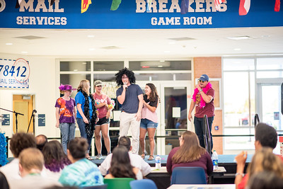 Students partake in the Waves of Welcome Lip Sync Battle.