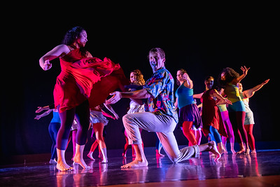 """Carnivale!"" was choreographed by Kate Burrill, and performed by the World Dance & Culture class in the fall 2018 Island Dance Demo."