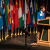 "President of the General Assembly Alexander Jorgensen speaks during the Model United Nations of Alaska 2018 Conference at UAA's Wendy Williamson Auditorium. The 36th Annual Model U.N. of Alaska conference, hosted by UAA's Department of Political Science, was titled ""Global Cooperation Under Siege.""  <div class=""ss-paypal-button"">180222-MODEL UN-JRE-0923.jpg</div><div class=""ss-paypal-button-end""></div>"
