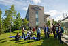 """Volunteers plant trees in front of the ConocoPhillips Integrated Science Building during a belated Arbor Day volunteer tree-planting event to honor UAA's 10 years as a certified Arbor Day Foundation Tree Campus.  <div class=""""ss-paypal-button"""">190614-ARBOR DAY TREE PLANTING-JRE-0359.jpg</div><div class=""""ss-paypal-button-end""""></div>"""
