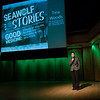 """College of Health Communications Officer Shelly Wozniak hosts the 1st Annual Seawolf Stories performance in the Fine Arts Building. The event was hosted by UAA's College of Health and entitled """"Good Medicine: Stories of Healing, Helping, and Honoring the 49th State.  <div class=""""ss-paypal-button"""">190411-SEAWOLF STORIES-JRE-0042.jpg</div><div class=""""ss-paypal-button-end""""></div>"""