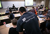 """UAA Engineering student James Flemings helps UAA Summer Engineering Academy students install sensors on their robots during the Lego Robotics Junior Academy in UAA's Engineering and Computation Building.  <div class=""""ss-paypal-button"""">190625-SUMMER ENGINEERING ACADEMY-JRE-0361.jpg</div><div class=""""ss-paypal-button-end""""></div>"""