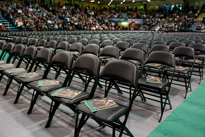 Empty seats in the Alaska Airlines Center await graduates before the UAA 2017 Fall Commencement.  171217-COMMENCEMENT-JRE-0289.jpg