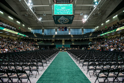 Empty seats in the Alaska Airlines Center await graduates before the UAA 2017 Fall Commencement.  171217-COMMENCEMENT-JRE-0295.jpg