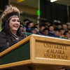 "Student Speaker Alexandria McLearen addresses graduates during the UAA 2017 Fall Commencement.  <div class=""ss-paypal-button"">171217-COMMENCEMENT-JRE-0858.jpg</div><div class=""ss-paypal-button-end""></div>"