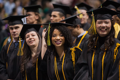 Sara N. Borges, Honors College, BS Psychology, during the UAA Fall 2017 Commencement.  171217-COMMENCEMENT-JRE-0377.jpg