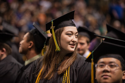 Delphine Dyer, BS Mechanical Engineering, Cum Laude, during UAA's Fall 2017 Commencement.  171217-COMMENCEMENT-JRE-0364.jpg