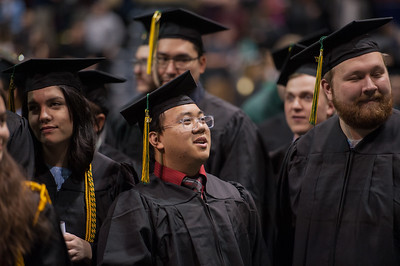 Clynce M. Carrillo, BS Mechanical Engineering, during UAA's Fall 2017 Commencement.  171217-COMMENCEMENT-JRE-0378.jpg