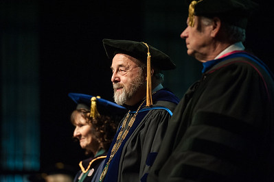 UAA Interim Chancellor Sam Gingerich at UAA's Fall 2017 Graduate Degree Hooding Ceremony.  171216-HOODING-JRE-0104.jpg