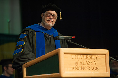 College of Education Dean Paul Deputy at UAA's Fall 2017 Graduate Degree Hooding Ceremony.  171216-HOODING-JRE-0313.jpg