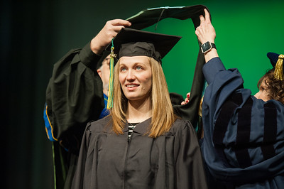 Mollie A. Alexander, Master of Education, Early Childhood Special Education, is hooded at UAA's Fall 2017 Graduate Degree Hooding Ceremony.  171216-HOODING-JRE-0320.jpg