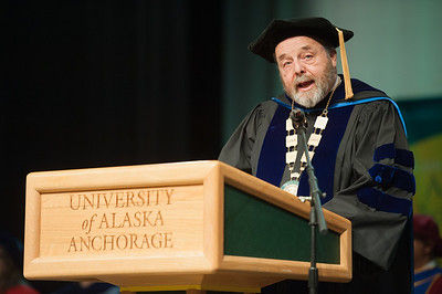 UAA Interim Chancellor Sam Gingerich speaks at UAA's Fall 2017 Graduate Degree Hooding Ceremony.  171216-HOODING-JRE-0164.jpg