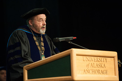 UAA Interim Chancellor Sam Gingerich speaks at UAA's Fall 2017 Graduate Degree Hooding Ceremony.  171216-HOODING-JRE-0173.jpg