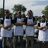 Our official cooks, Mr. Sam Boggs, Mr. Mike Bock, Dr. Earl Brooks, and Mr. Steve Bowen, at the Trine at Defiance football tailgate party.<br /> <br /> Photo by: Bowen Arrow Photography.