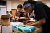 "Adora, 16, installs the bridge of her guitar as instructor Holly McQuinn teaches STEM (Science Technology Engineering &amp; Math) of Guitar to high school students in the TRIO Upward Bound Summer Program in UAA's Fine Arts Building.  <div class=""ss-paypal-button"">190708-TRIO STEM GUITAR-JRE-0313.jpg</div><div class=""ss-paypal-button-end""></div>"