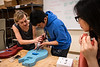 "Instructor Holly McQuinn helps Cal, 16, with his build as she teaches STEM (Science Technology Engineering &amp; Math) of Guitar to high school students in the TRIO Upward Bound Summer Program in UAA's Fine Arts Building.  <div class=""ss-paypal-button"">190708-TRIO STEM GUITAR-JRE-0149.jpg</div><div class=""ss-paypal-button-end""></div>"