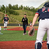 "Chancellor Cathy Sandeen reacts after throwing the first pitch at UAA Night at the Ballpark as UAA hosts a Chugiak-Eagle River Chinooks baseball game at Lee Jordan Field in Chugiak.  <div class=""ss-paypal-button"">190610-CHANCELLOR BASEBALL-JRE-0182.jpg</div><div class=""ss-paypal-button-end""></div>"