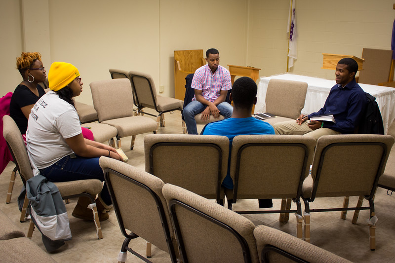 Bible Study led by student Nick Turner