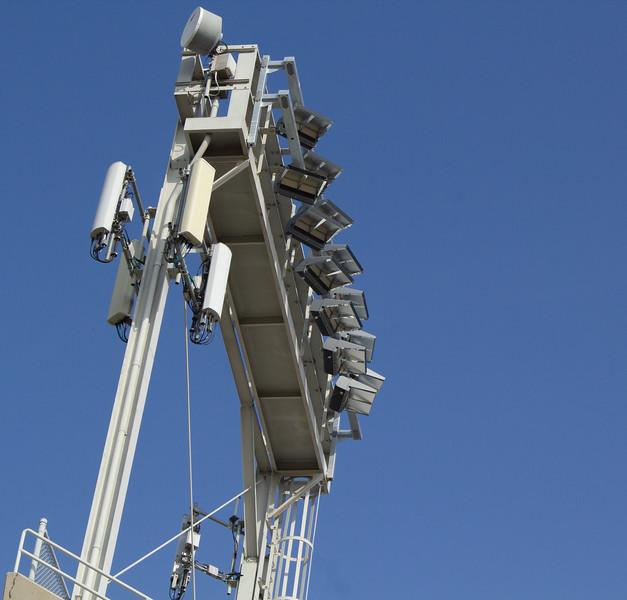 The new lights in Memorial Stadium.