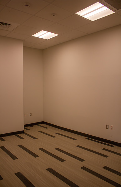 A corner office space for Student Life staff on the first floor of the Campus Center.