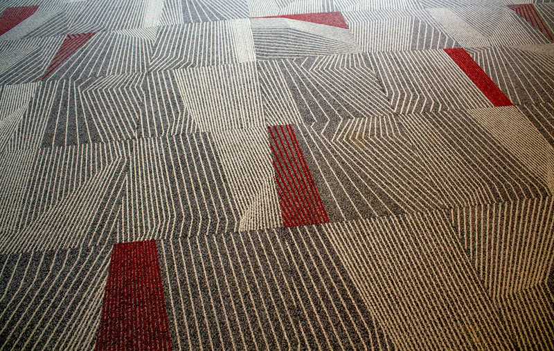 Carpeting on the second floor of the new Campus Center.