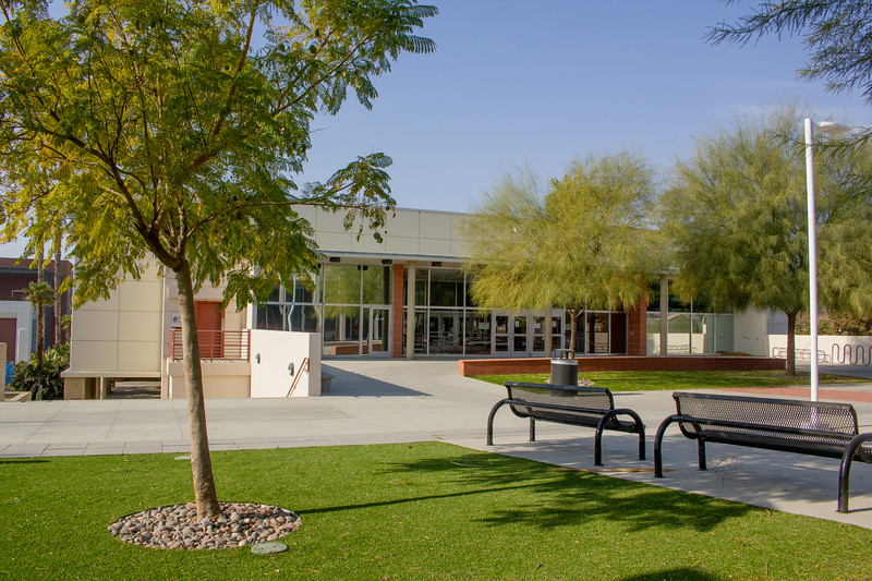 New turf was installed on the courtyard between CSS and the Performing Arts Center.