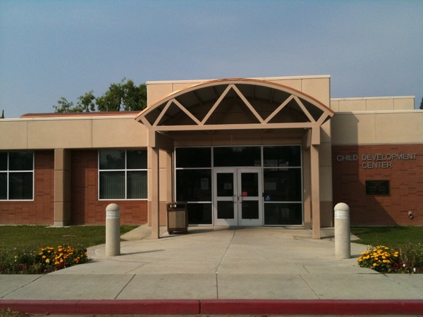 The front entrance to the Child Development Center