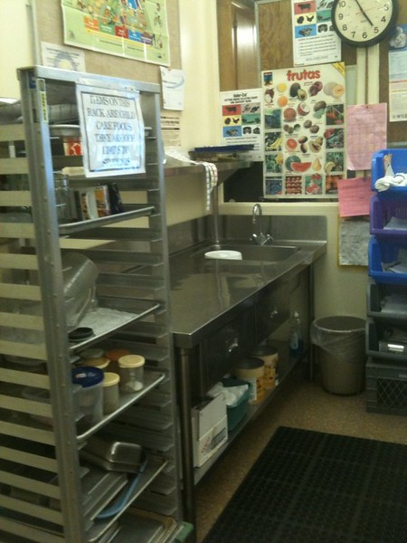 Our food service area of the Child Development Center is kept clean to keep your children safe.