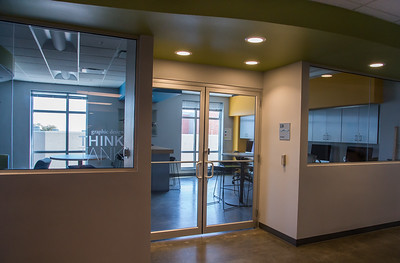 Exterior of the Graphic Design THINK TANK located second floor of Bay Hall
