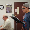 Adrian Lopez with his instructor Dr. Bernhardt with their weekly practice with voice recital.