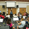 Students from the Coastal Bend area, partake in string lessons during the TAMU-CC's Coastal Bend Strings Camp, Monday July 27 2015.