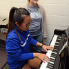 Students, Teagan Tayor Thi and Shelby Forward, play a musical number in the Center for the Arts.